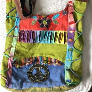 Boho crossbody bag made in Nepal